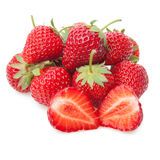 Fresh strawberry isolated on white. Royalty Free Stock Photo