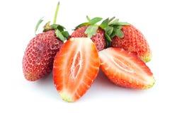 Fresh strawberry isolated on white background Stock Photos