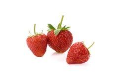 Fresh strawberry isolated on white background. Strawberry isolated on white background stock photos