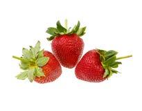 Fresh strawberry  isolated on white background. Fresh strawberry fruit isolated on white background stock image