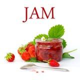 Fresh strawberry jam Royalty Free Stock Images