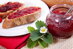Fresh Strawberry Jam Royalty Free Stock Photography