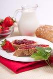 Fresh Strawberry Jam royalty free stock photos