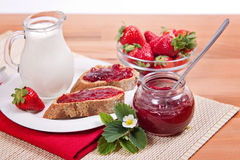 Fresh Strawberry Jam Stock Photos