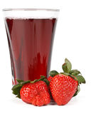 Fresh strawberry and juice glass Royalty Free Stock Photo