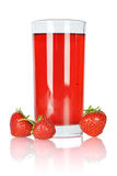 Fresh strawberry juice Royalty Free Stock Photos