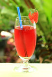 Fresh strawberry juice Stock Photo