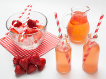 Fresh strawberry juice Royalty Free Stock Images