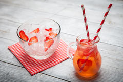 Fresh strawberry juice Royalty Free Stock Image