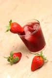 Fresh strawberry juice Stock Images