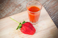 Fresh strawberry and juice Royalty Free Stock Images