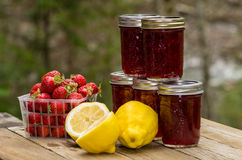 Fresh strawberry lemon curd jam Stock Images