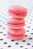 Fresh strawberry macaroon Stock Photos