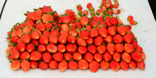 Fresh strawberry at market Stock Image