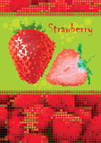 Fresh strawberry menu Stock Image