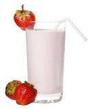 Fresh strawberry milkshake Royalty Free Stock Photography