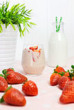 Fresh strawberry milkshake Royalty Free Stock Image