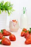 Fresh strawberry milkshake Royalty Free Stock Image