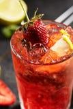 Fresh Strawberry Mojito Stock Photography