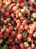 Fresh strawberry. Organic Strawberry background close up Stock Photography