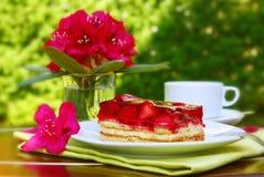 Fresh strawberry pie. Royalty Free Stock Photos