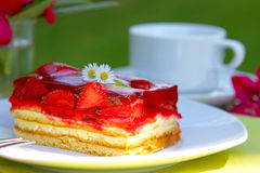Fresh strawberry pie. Stock Images
