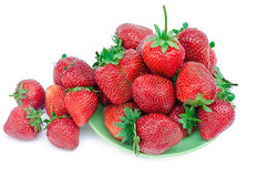 Fresh strawberry on a plate Stock Image