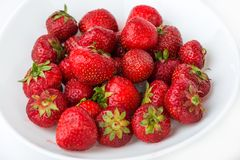 Fresh strawberry on a plate Stock Images