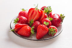 Fresh strawberry on plate Royalty Free Stock Photo