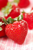 Fresh strawberry with powdered sugar Royalty Free Stock Image