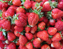 Fresh strawberry. Fresh ripe red strawberry texture Stock Photos