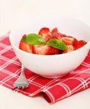 Fresh strawberry salad Royalty Free Stock Image