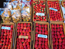 Fresh strawberry selling Stock Photography
