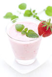 Fresh strawberry shake Royalty Free Stock Images