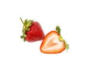 Fresh strawberry slice isolated on white background. Fresh strawberry isolated on white background Stock Images