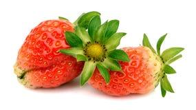 Fresh strawberry slice isolated on white background. Dessert, refreshment. Strawberry slice isolated on the white background stock photography