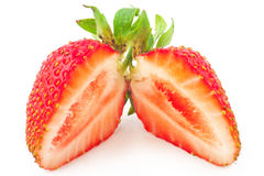 Fresh strawberry slice Royalty Free Stock Photo