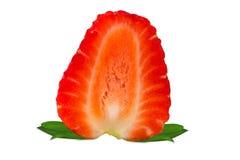 Fresh strawberry slice on a white background Stock Photography