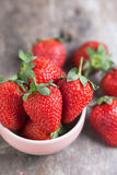 Fresh strawberry in small bowl Royalty Free Stock Photo