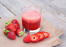 Fresh strawberry smoothie juice Stock Images