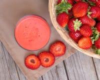 Fresh strawberry smoothie juice Royalty Free Stock Image
