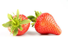Fresh strawberry. Some fresh red strawberry isolated on the white background Stock Photography