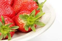 Fresh strawberry. Some fresh red strawberry  on the white background Stock Photography