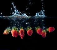 Fresh strawberry splash Royalty Free Stock Photography