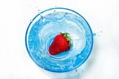 Fresh Strawberry Splash Stock Photography