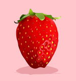 Fresh strawberry with stem on Royalty Free Stock Image