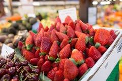 Fresh Strawberry. Strawberries fresh and in season at Fremantle Market WA, Australia Stock Image