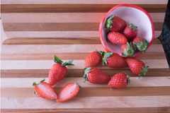 Fresh strawberry in strawberry cup Stock Photography