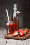 Fresh strawberry and strawberry drink Royalty Free Stock Photo