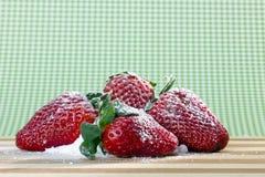 Fresh strawberry with sugar powder Royalty Free Stock Photos